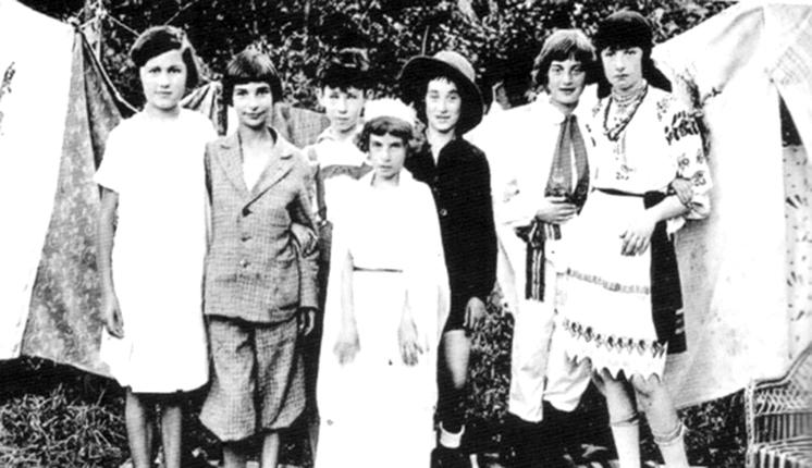 Українські та єврейські діти на забаві, 1930 рік.