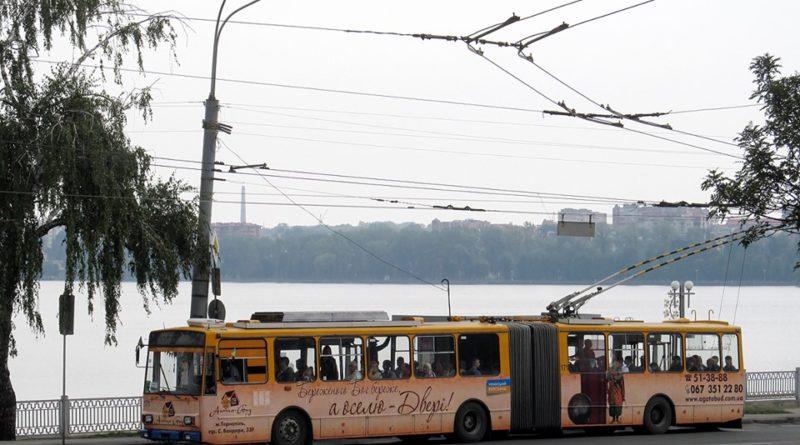 тролейбус, Тернопіль, Тернопільський став